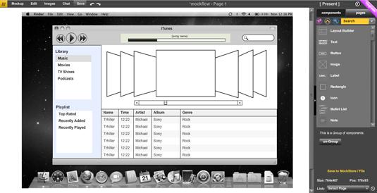 Wireframe tools: MockFlow