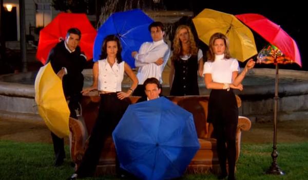 friends opening theme umbrellas