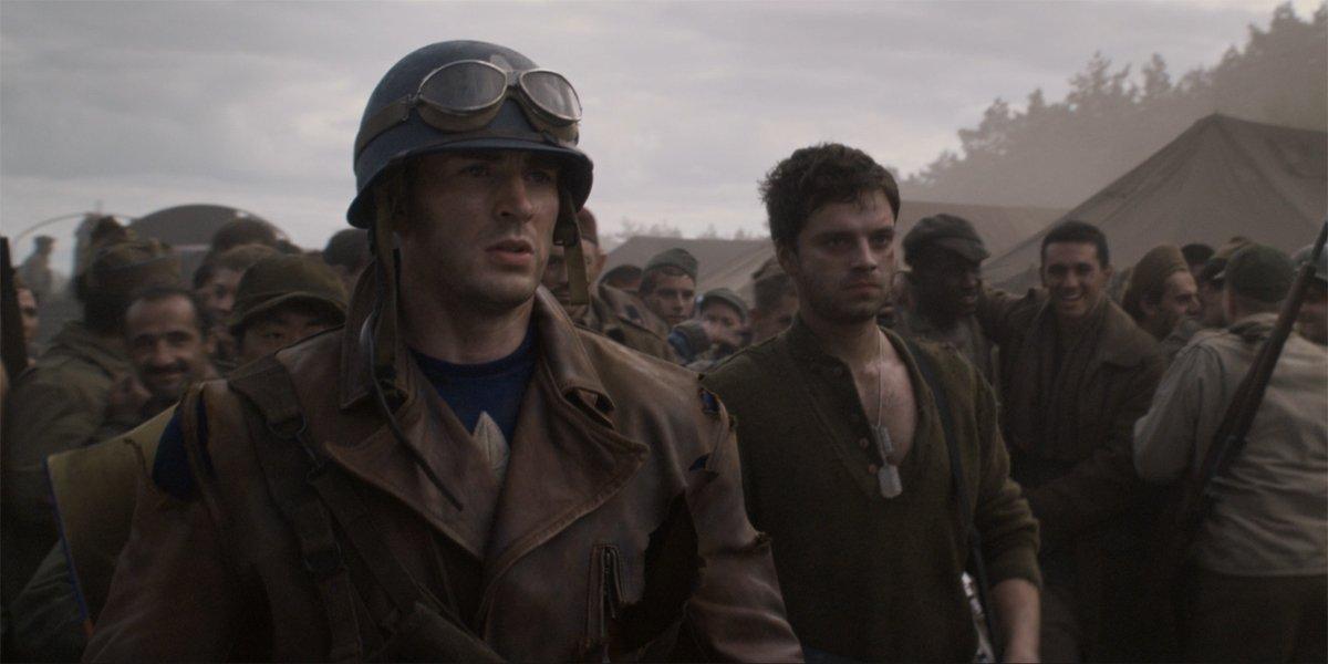 Captain America Steve Rogers and Bucky