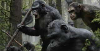 "Digitally rendered apes of all kinds, and played by human actors, take center stage in the ""Dawn of the Planet of the Apes."""