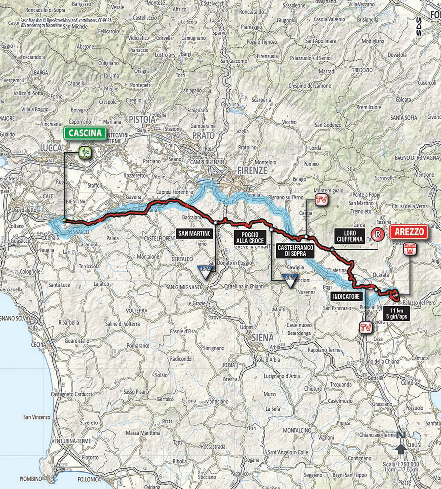 TirrenoAdriatico 2015 route Stage by stage Cycling Weekly