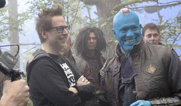 James Gunn and Michael Rooker on the set of Guardians of the Galaxy Vol. 2