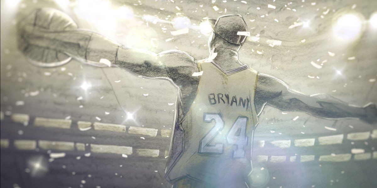 An illustration of Kobe Bryant in Dear Basketball