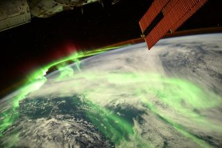 European Space Agency astronaut Thomas Pesquet snapped a photo of a stunning aurora on Aug. 20 from the International Space Station.