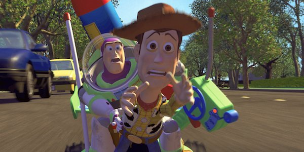 Buzz and Woody in the original Toy Story