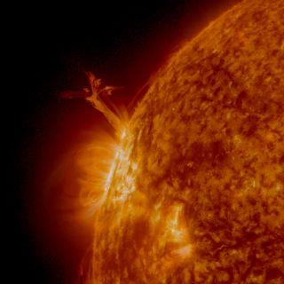 Solar Prominence Sun 'Twister'