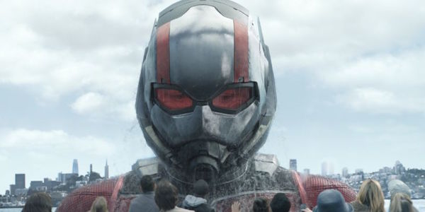 Ant-Man growing in Ant-Man and The Wasp