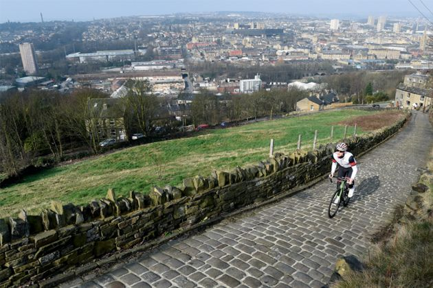 Climbing out of Halifax on Trooper Lane