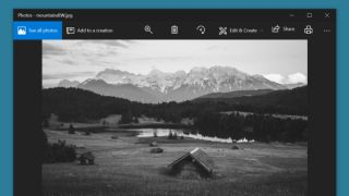 How to change a photo from color to black and white using Microsoft Photos