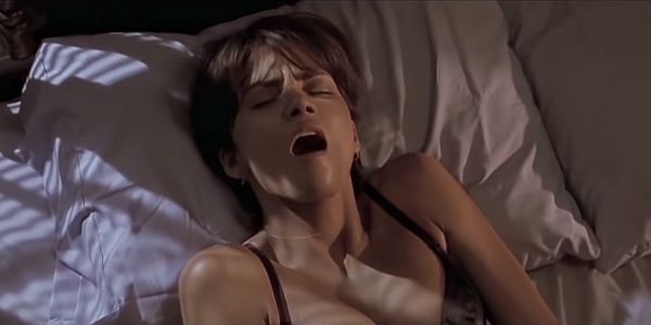 halle berry excited in bed