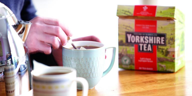 Making a cup of Yorkshire Tea