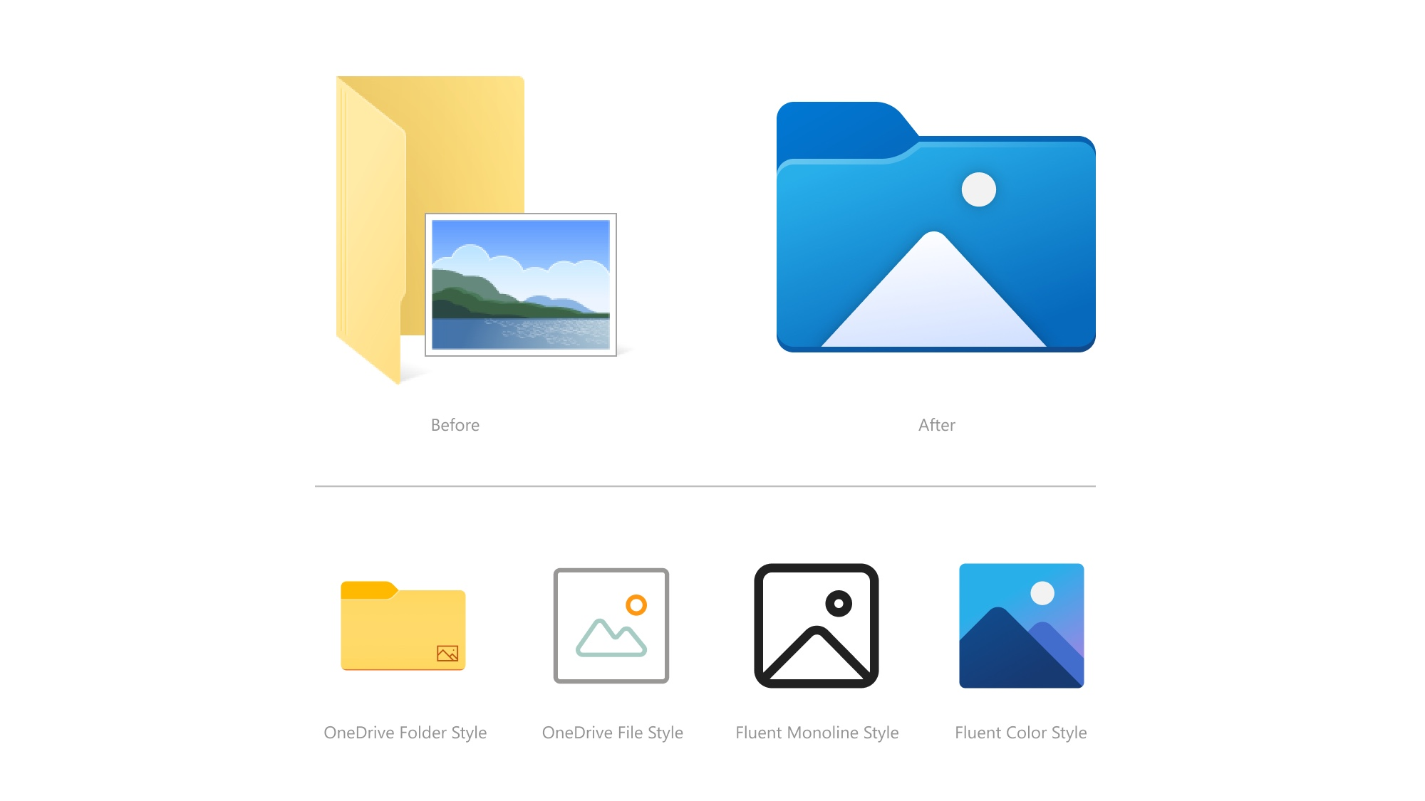 Windows 10 changes new icons