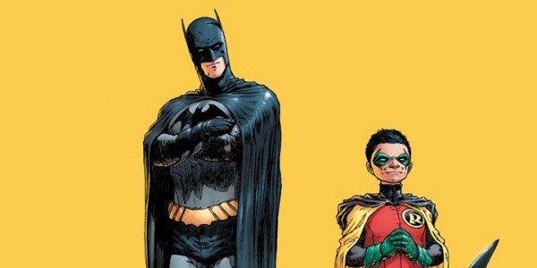 Dick Grayson as Batman and Damian Wayne as Robin