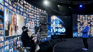 Worre Studios features curved LED displays fed by a Christie Spyder X80 multi-windowing processor