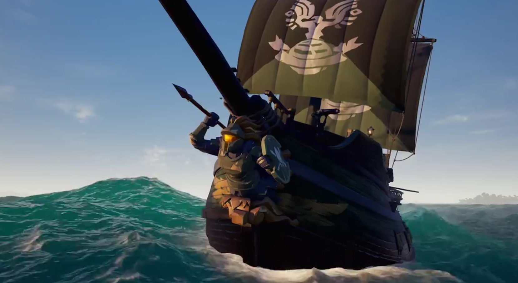 Get a Halo-inspired Spartan Ship Set for Sea of Thieves for