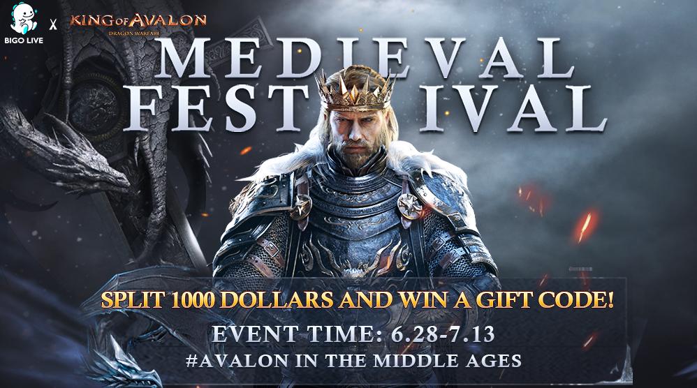 Bigo Live partnership with King of Avalon poster