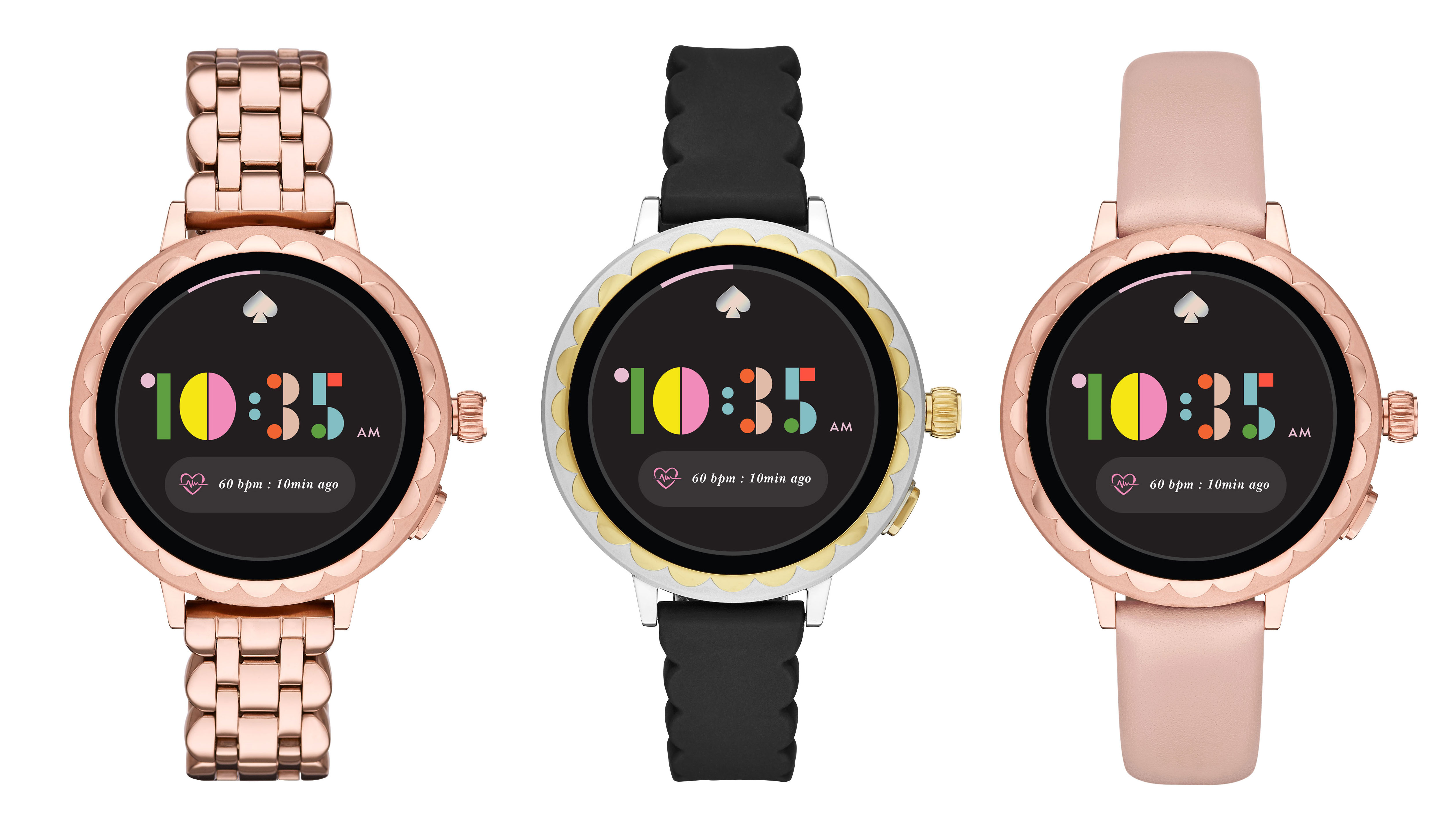 new concept 40b24 b97b1 Kate Spade Scallop 2 smartwatch has Google Pay, GPS and heart rate ...