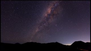 Milky Way and Volcanoes