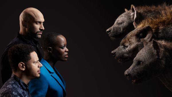 Keegan Michael Key Eric André, Florence Kasumba as the hyenas