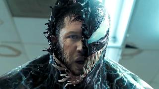 Tom Hardy playing Venom