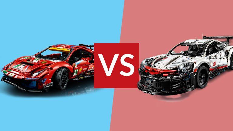 Lego Technic Ferrari vs Lego Technic Porsche