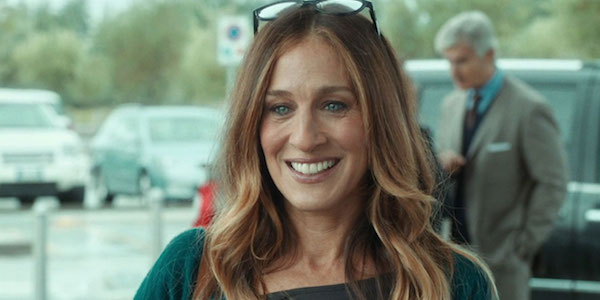 Sarah Jessica Parker All Roads Lead to Rome smile glasses on head