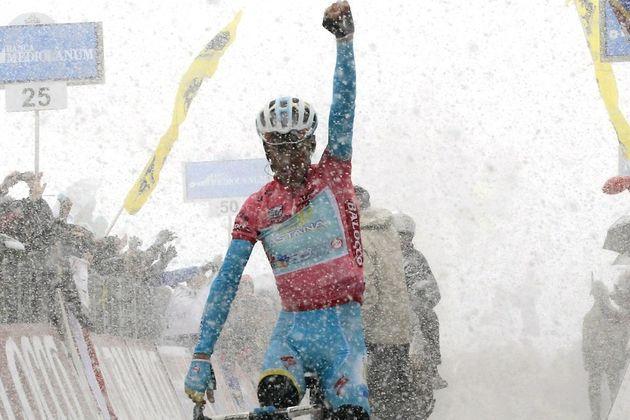 Photo: Vincenzo Nibali wins stage twenty at the 2013 Giro d'Italia .