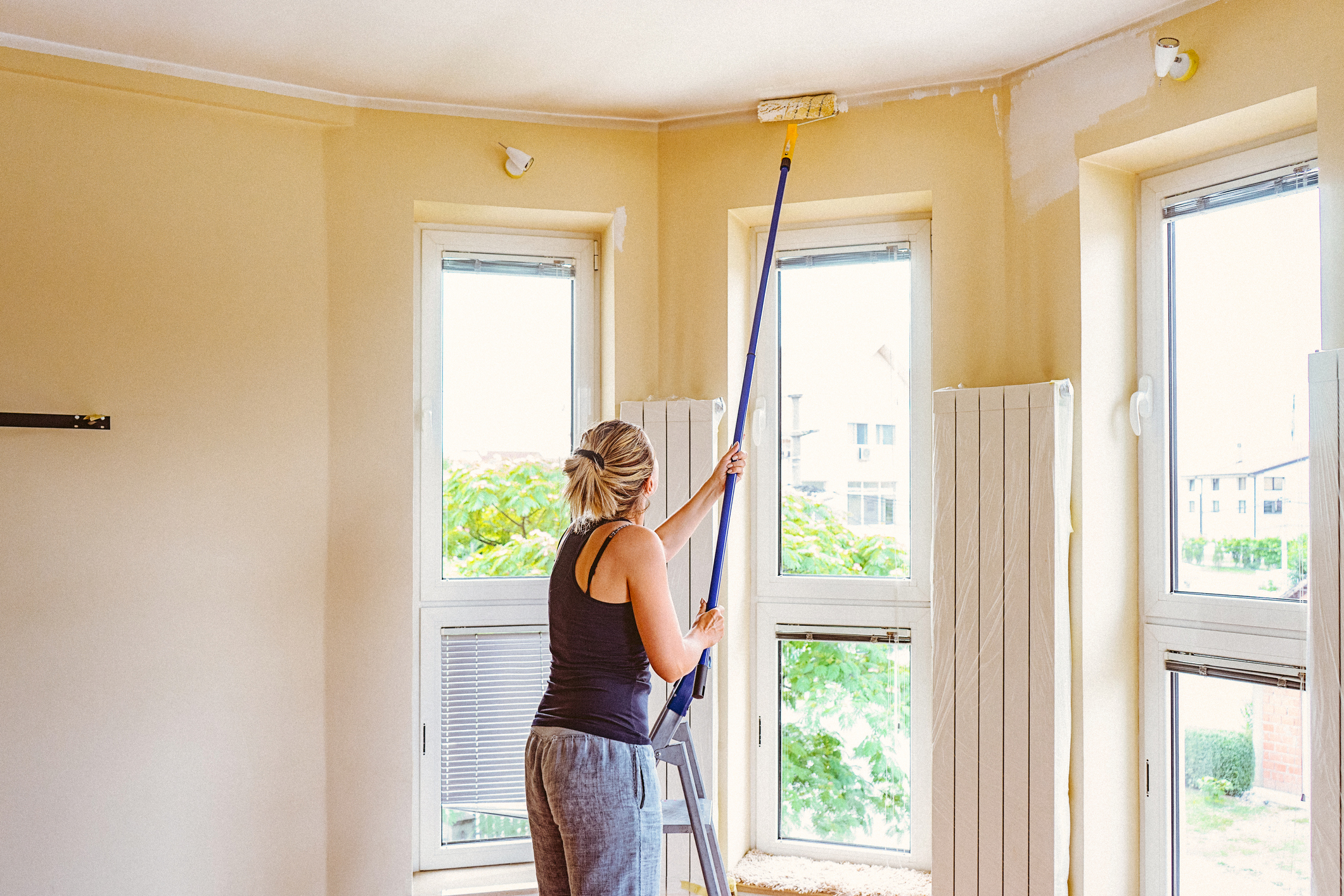 How To Paint A Ceiling Real Homes