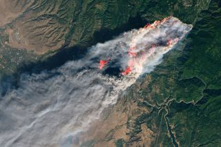 Raging California Wildfires Spotted from Space (Photos) | Space