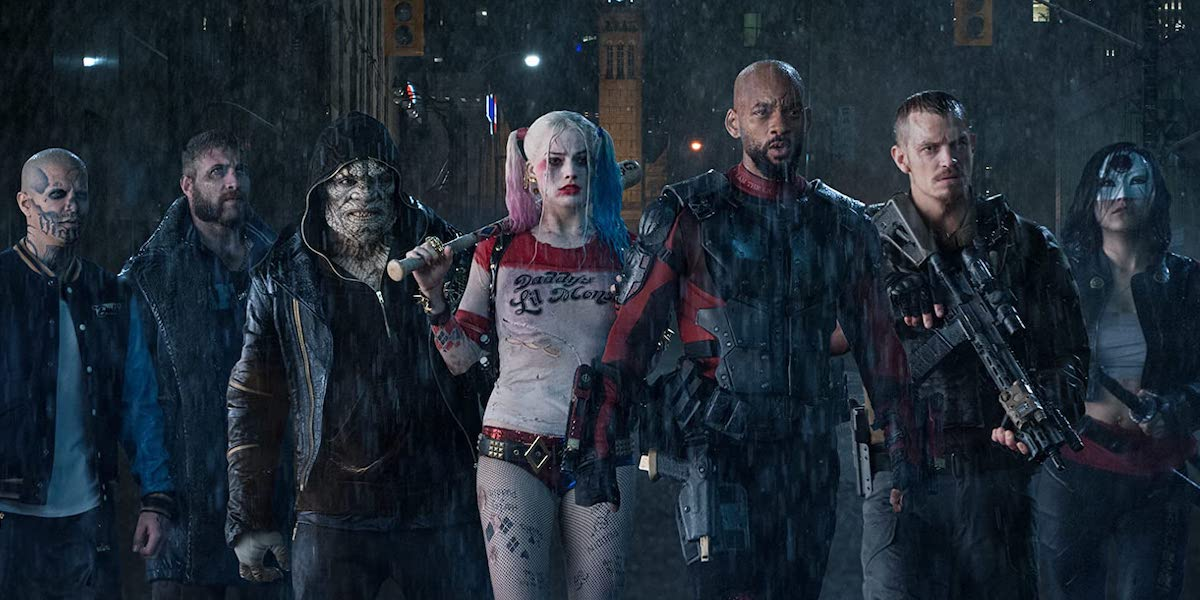 Diablo, Boomerang, Crocodile, Harley Quinn, Deadshot, Rick Flag and Katana in Suicide Squad