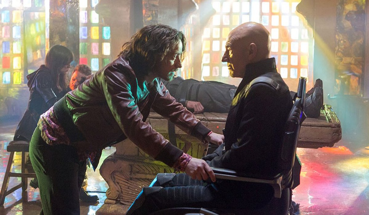 X-Men: Days of Future Past Professor Xavier past and future have a talk