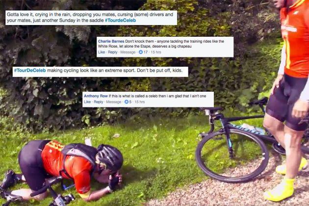 Social Media Reacts To Tour De Celeb Cycling Reality Tv Show