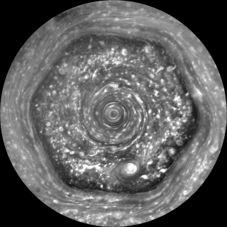 Hexagon observations made by Cassini in 2012, taken in wavelengths ranging from UV to IR.