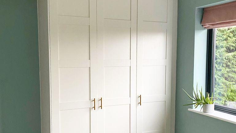 Built-in wardrobe Ikea hack