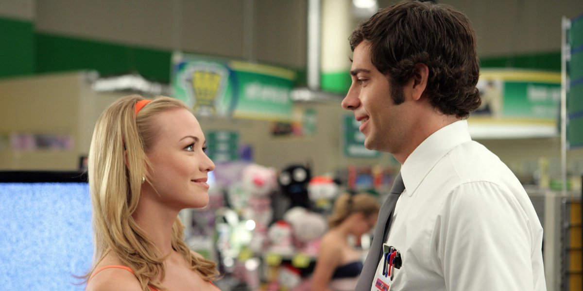 Yvonne Strahovski and Zachary Levi on Chuck