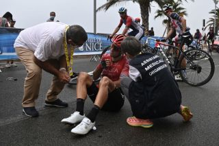 Kevin Ledanois (Arkea-Samsic) crashed in Nice