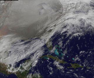 Polar Vortex Seen From Space