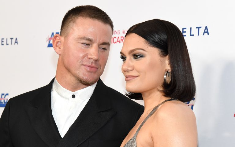 Channing Tatum and Jessie J attend MusiCares Person of the Year honoring Aerosmith at West Hall at Los Angeles Convention Center on January 24, 2020 in Los Angeles, California, celebrities on Raya