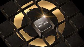 AMD Ryzen CPU in Zen logo