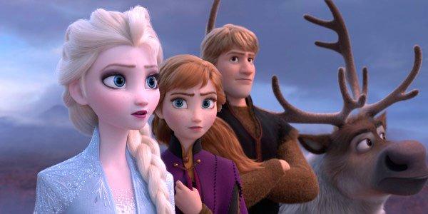 Elsa Anna Kristoff and Sven in Frozen 2 trailer