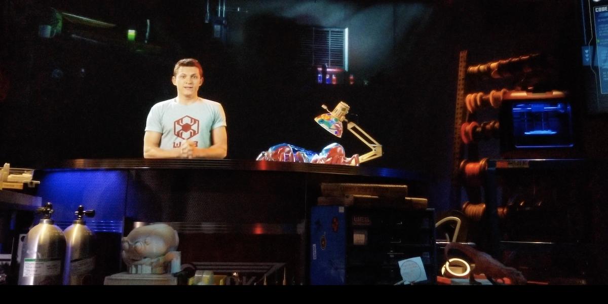 Tom Holland as Peter Parker in WEB-SLINGERS queue room