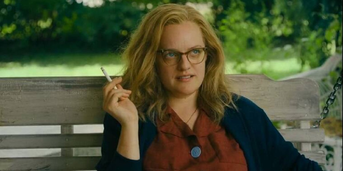 Elisabeth Moss as Shirley Jackson in the movie, Shirley.