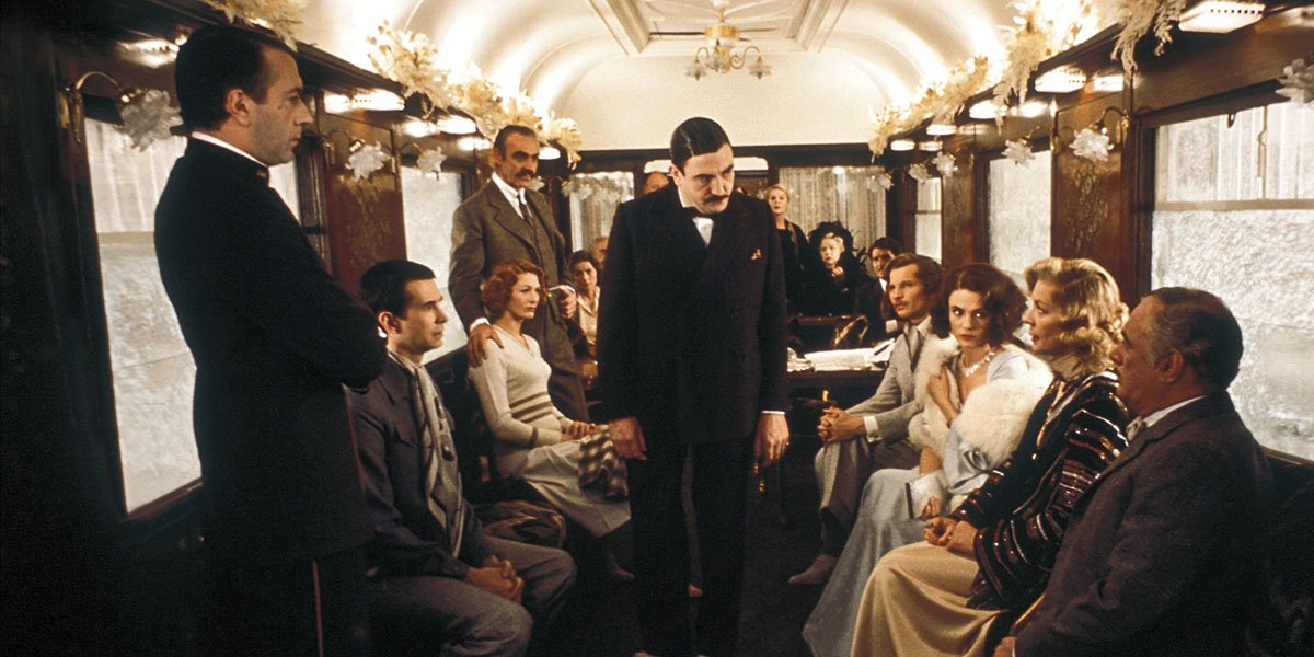 The cast of the 1974 adaptation of Murder on the Orient Express