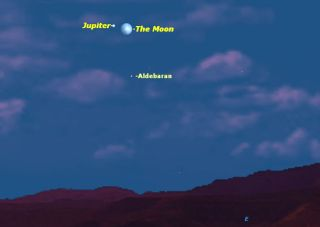 Jupiter and Moon on Christmas