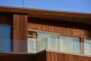 Timber cladding on contemporary house