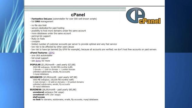 cPanel Plans