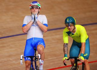 Elia Viviani (Italy) takes bronze in the men's Omnium at the Olympic Games