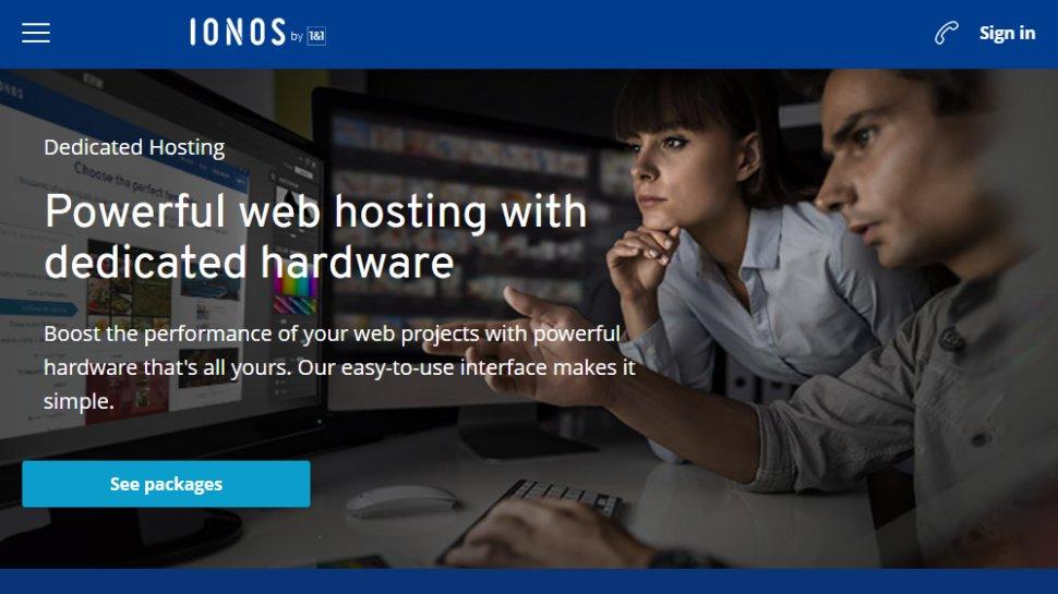 IONOS dedicated hosting