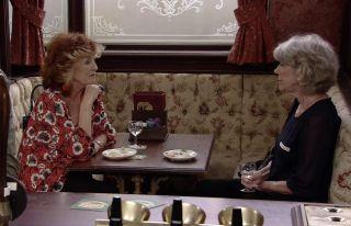 Audrey Roberts (Sue Nicholls) with Claudia