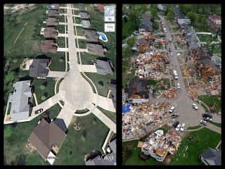 st. louis tornado damage picture